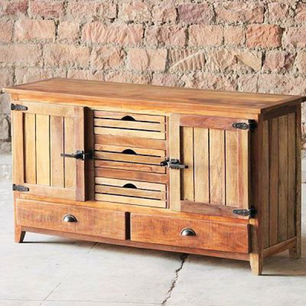 Avalon Upcycled 2 Door 2 Drawer Crate Sideboard