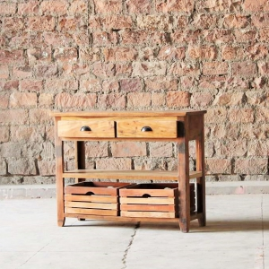Avalon Upcycled 2 Drawer Crate Console Table