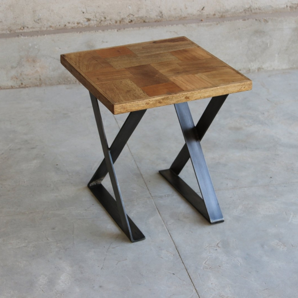 Hickory Upcycled Lamp Table