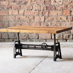 Hyatt-Fulton Industrial Adjustable Height Coffee/Dining Table