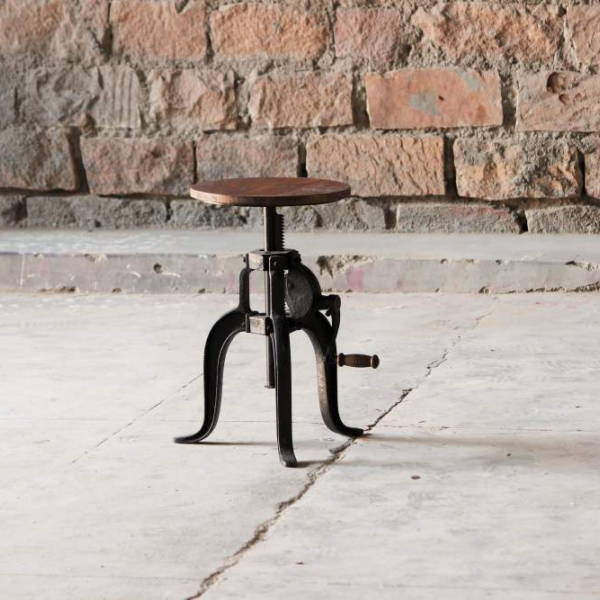 Hyatt-Fulton Industrial Height Adjustable Jack Stool