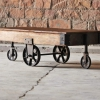 Hyatt Upcycled Industrial Coffee Table Cart