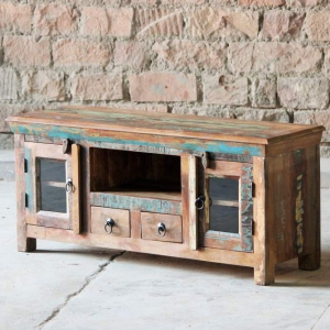 Mary Rose Upcycled 2 Drawer 2 Door TV Unit