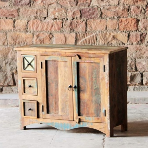 Riya Upcycled 3 Drawer 2 Door Medium Sideboard