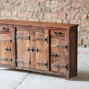 Rustica Upcycled 2 Drawer 4 Door Sideboard
