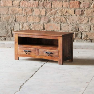 Rustica Upcycled Small 2 Drawer TV Unit