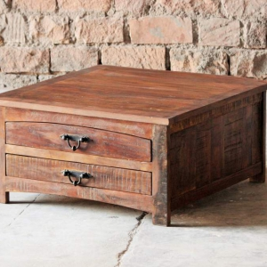 Rustica Upcycled Square Coffee Table