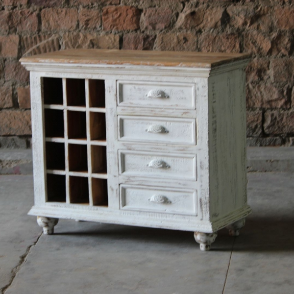 Sahira Upcycled Wine Rack Sideboard
