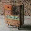 Shimla Eclectic Upcycled 5 Multi Drawer Storage Chest