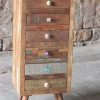 Shimla Eclectic Upcycled 6 Multi Drawer Storage Chest
