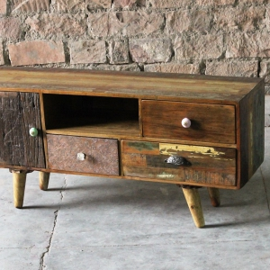 Shimla Upcycled 3 Drawer TV Unit
