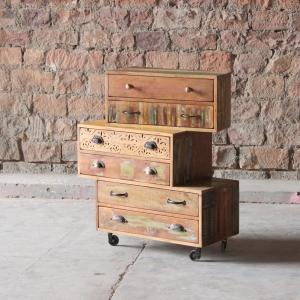 Shimla Upcycled 6 Multi Drawer Storage Chest