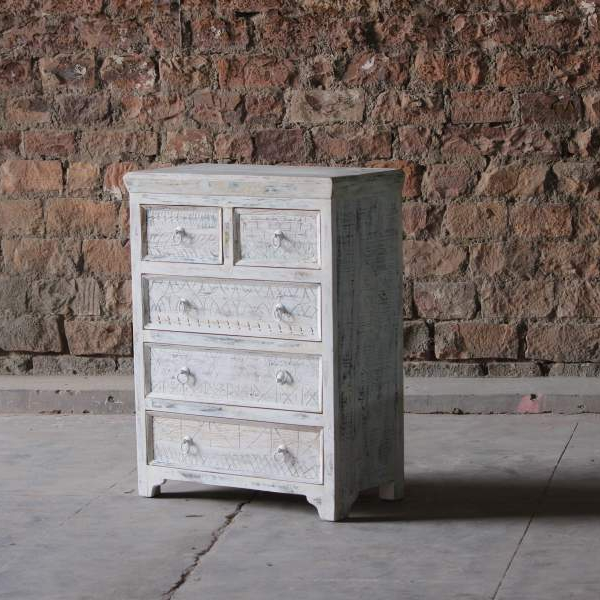 Whiteleaf Upcycled 5 Drawer Chest