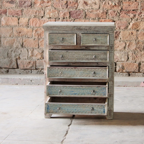 Whiteleaf Upcycled 6 Drawer Chest
