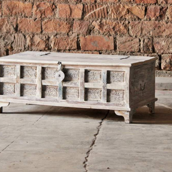 Whiteleaf Upcycled Trunk Box Coffee Table