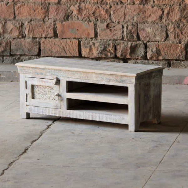 Whiteleaf Upcycled Small 1 Door TV Unit
