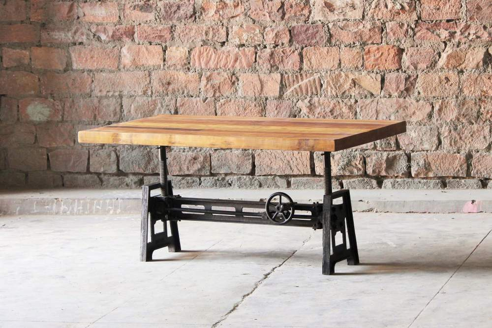 Hyatt Fulton Industrial Adjustable Height Coffee/Dining Table