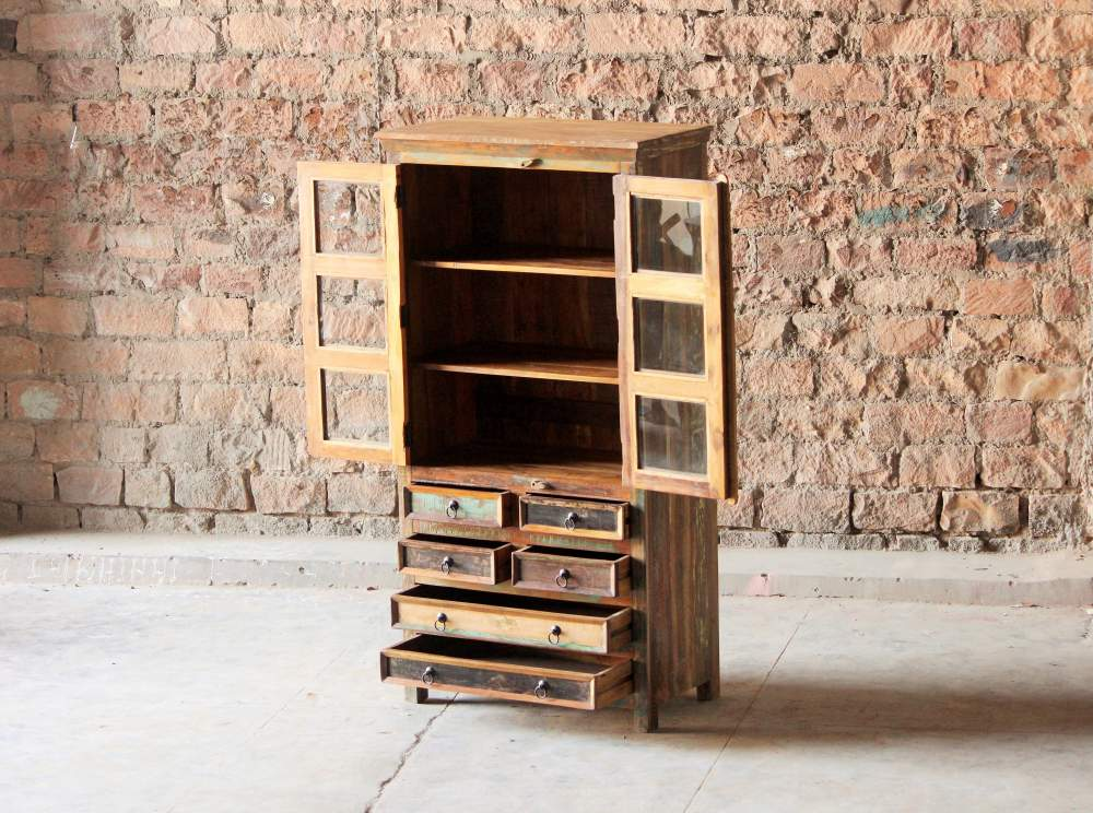 Mary Rose Upcycled 6 Drawer 2 Door Dresser ...